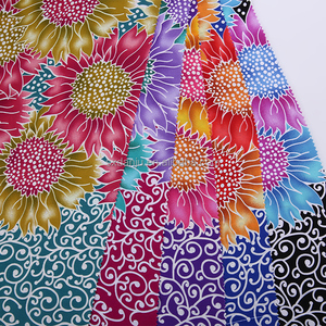 ready made DRESS heavy fabric printing woven floral printed stretch dull satin fabric