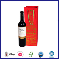 High quality bottle wine fancy gift paper bag