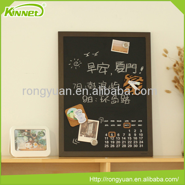 Customized black rectangle shaped chalkboard