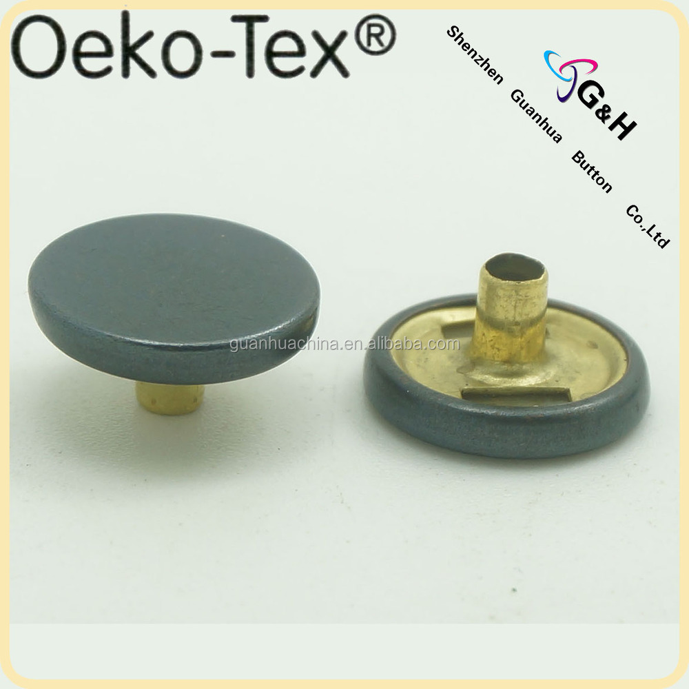 thick cap for spring snap button and press snap button