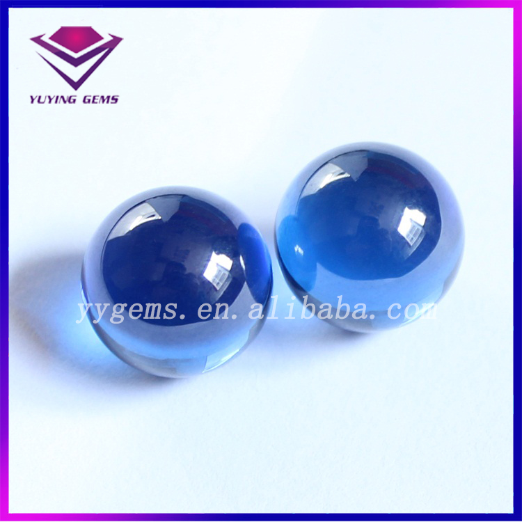 High Quality Sapphire Blue CZ Cubic Zirconia Ball Loose Birthstones