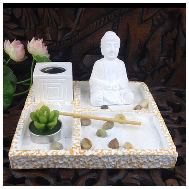 wei buddha mini zen garten asian japanische fengshui zen. Black Bedroom Furniture Sets. Home Design Ideas