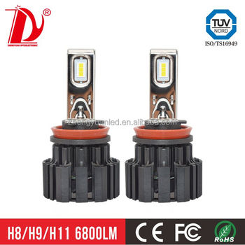 top led headlight manufacturer 100w 13600lm h7 led canbus with high brightness d2s led headlights
