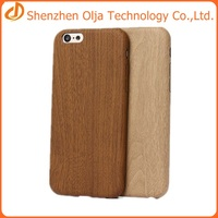 Olja ultra thin wood leather cover case for iphone 6 soft
