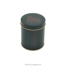 High Quality round cylinder coffee tin coffee tin box coffee tin can