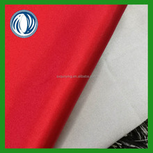 Elastic woven polyester satin fabric