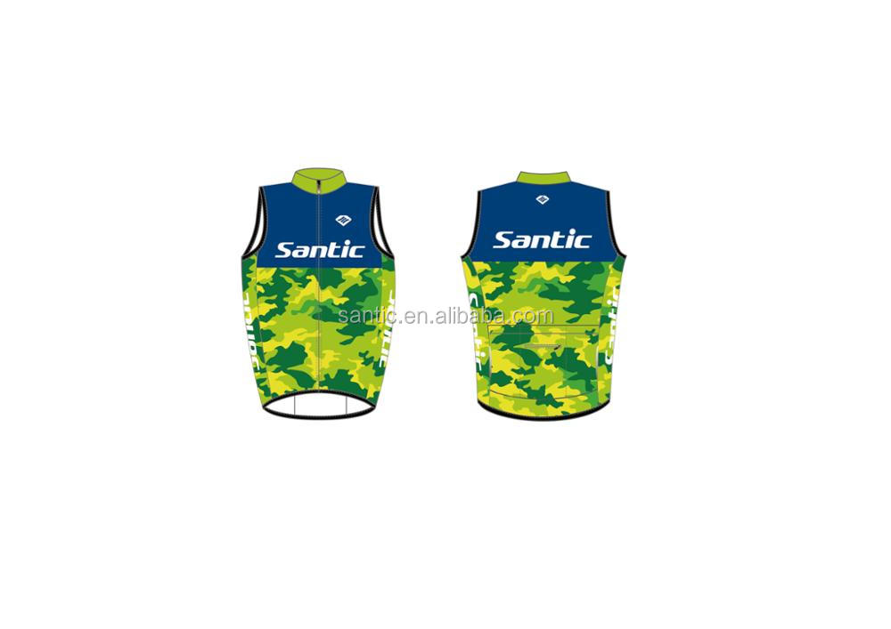 customized sublimation pro bike wind-proof vest