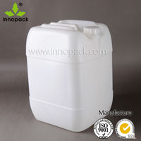 white HDPE cooking oil jerry cans 20l with screw lid wholesale