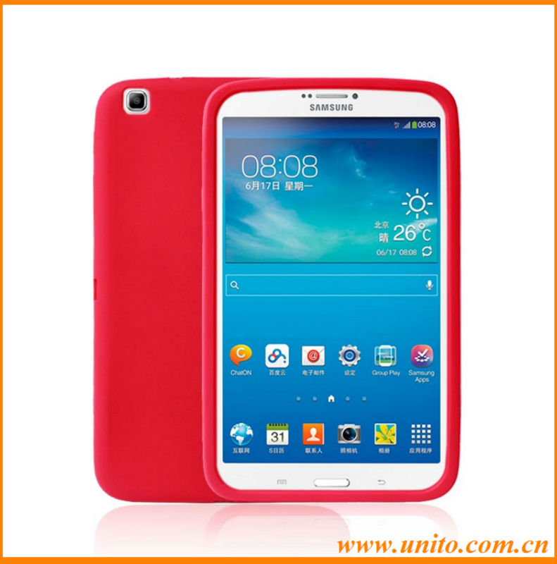 new product silicon tablet case cover,for galaxy Tab 3 8inch silicon case