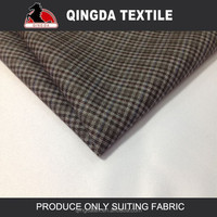 W1690 shaoxing supplier mens italian suit plaid suiting fabric