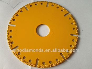 vacuum brazed diamond saw blade for stone and building materials