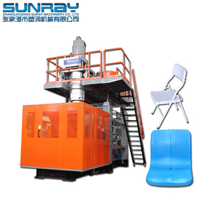 Extrusion blow molding machine for BUS seat production
