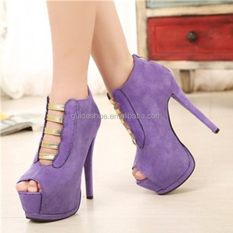 Wholesale 2015 new wholesale cute peep toe brand ladies shoes high