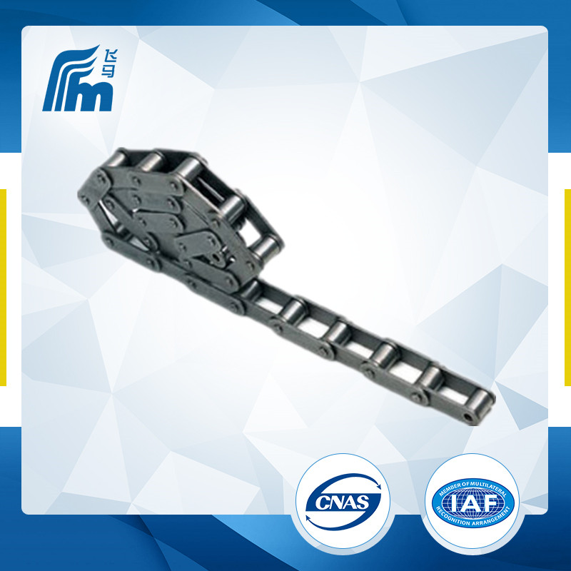 FVT180 double row straight plate roller chain,table top conveyor chain