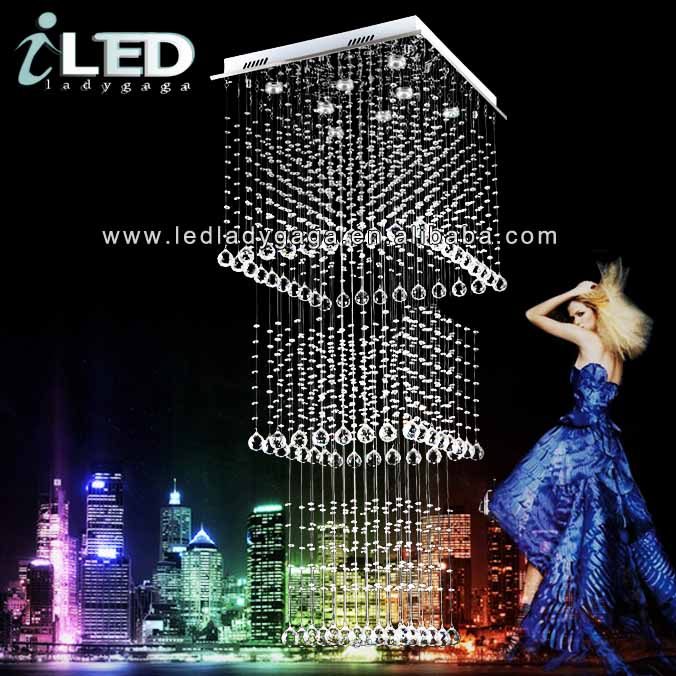 <strong>L1000</strong>*W1000*H2800mm Modern and Super Luxury chandelier newest fancy modern chrome chandelier parts