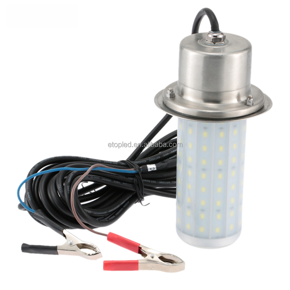 12V 50W Fish Attractor Lamp IP68 Water Resistant LED Lure Light 30m Underwater light for Sea Lake Fishing Night lighting