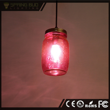 LOFT American Industrial hanging lighting purple glass pendant lamp vintage pendant light