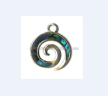 Boho Chic Swirl Charm Necklace Journey of Life ancient greek spiral jewelry