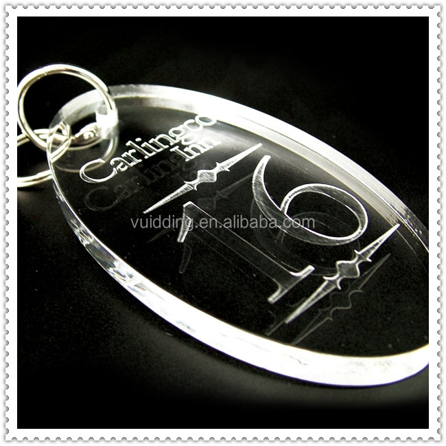 Oval Clear Acrylic Luggage Tag For Promotional Gifts