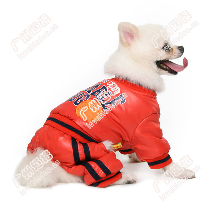 Dog Winter Sport Waterproof Coat Stylish Free American basketball one-piece coat Pet Dog Clothes Wholesale
