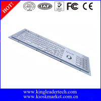 Brushed 103keys metal industrial kiosk keyboard with numeric keypad