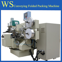 PLC control Conveying folded chocolate pack machine in Chengdu Wealthrise Complete Engneering Co.,Ltd