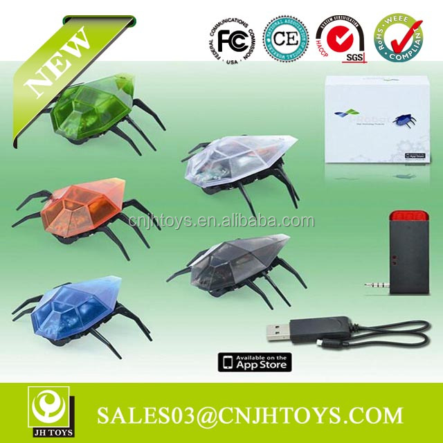 301 Iphone Remote Control Mini Insect RC Beetle Toy Robot With Light Toy Beetle