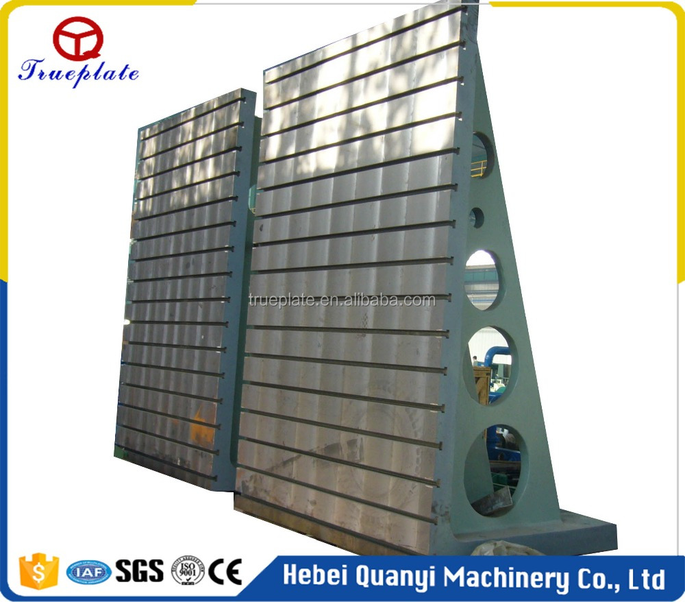 Verticality Inspection Precision Machining Cast Iron T-slot Angle Plate