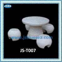 Cultured Decorative White Stone Garden Mushroom Shaped Table