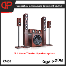 wooden box tower floor standing speaker 5.1 home theater karaoke speaker system HIFI speaker