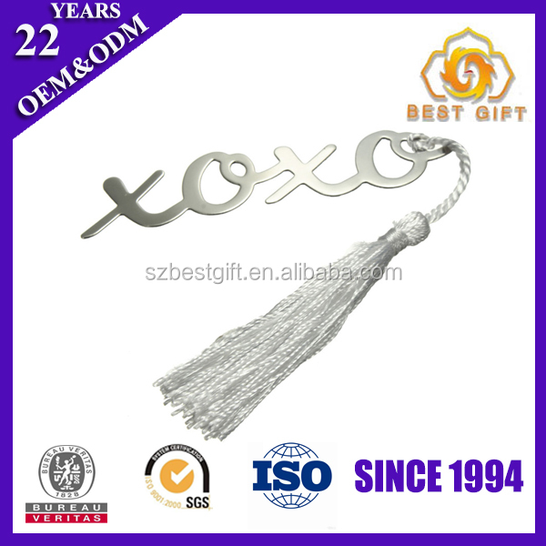 Hot selling gift items silver plated metal bookmark blank