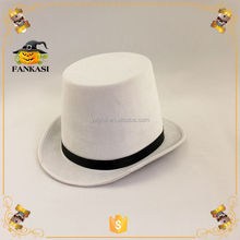 White Felt Top Hat For Party Decorarion