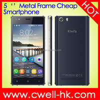 OEM Cheap Smartphone 5 Inch Quad Core RAM 512MB ROM 8GB Dual Sim Card Wifi Bluetooth A-GPS 2000mAh Kimfly M2