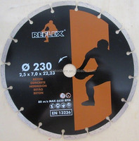 Diamond Disc 9inch 230x2.5x7x22.2 for Construction Cold pressed Segmented