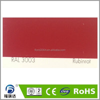 powder coating indoor epoxy polyester resin matt smooth surface RAL3003 ruby red