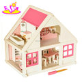 New design miniature wooden kids doll house with furniture W06A319