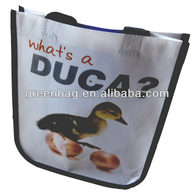 Laminated Photo Print Shopping Bag