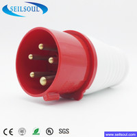 SSL-025 series 5 pins 3P+N+E good quality male industrial electrical plug and socket