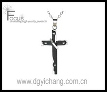 mens fashion hammered cross pendants