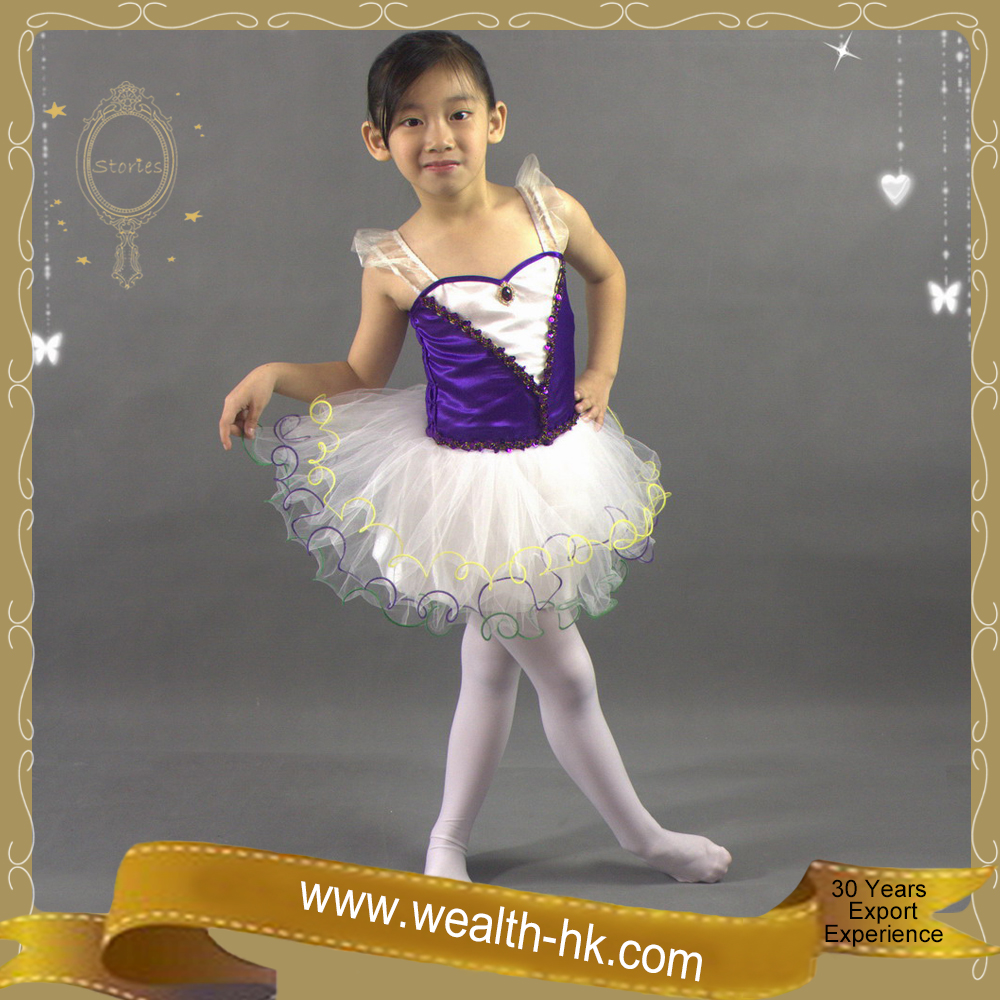 Purple Ballerina Danceing Tutu Dress for girls kids party dresses
