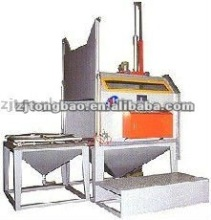 Cart type turntable sandblasting cabinet machine/Rotating table shot blasting unit