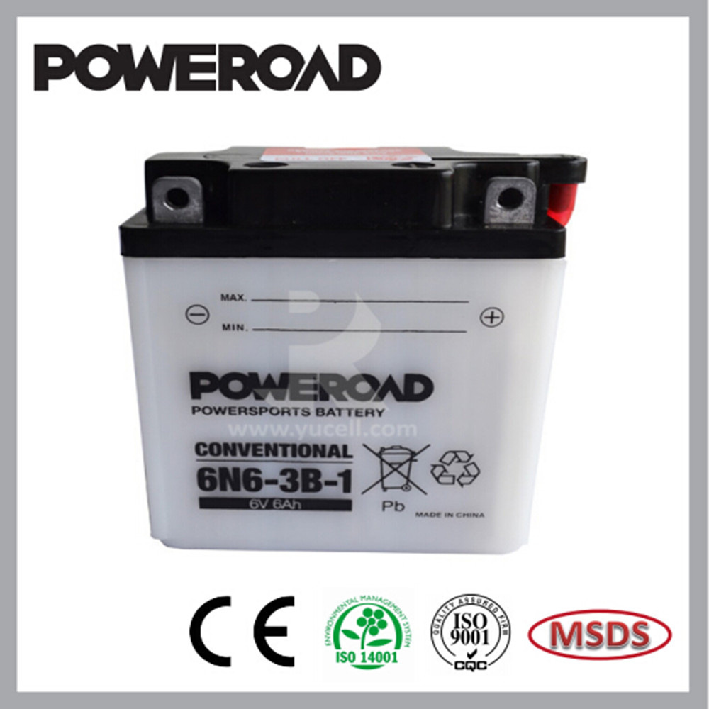 Hot selling lead acid dry charged motorcycle batteries for motorcycle 6N6-3B-1
