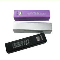 UL certification approved Aluminium Lipstick power bank 2600mah/best power bank 2600