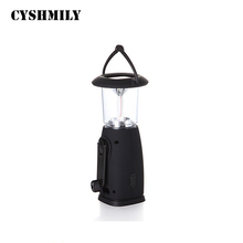 Solar energy ABS plastic 6 led camping 19.5*8.5*8.5 light high power Hand shake rechargeable led camping lantern with usb