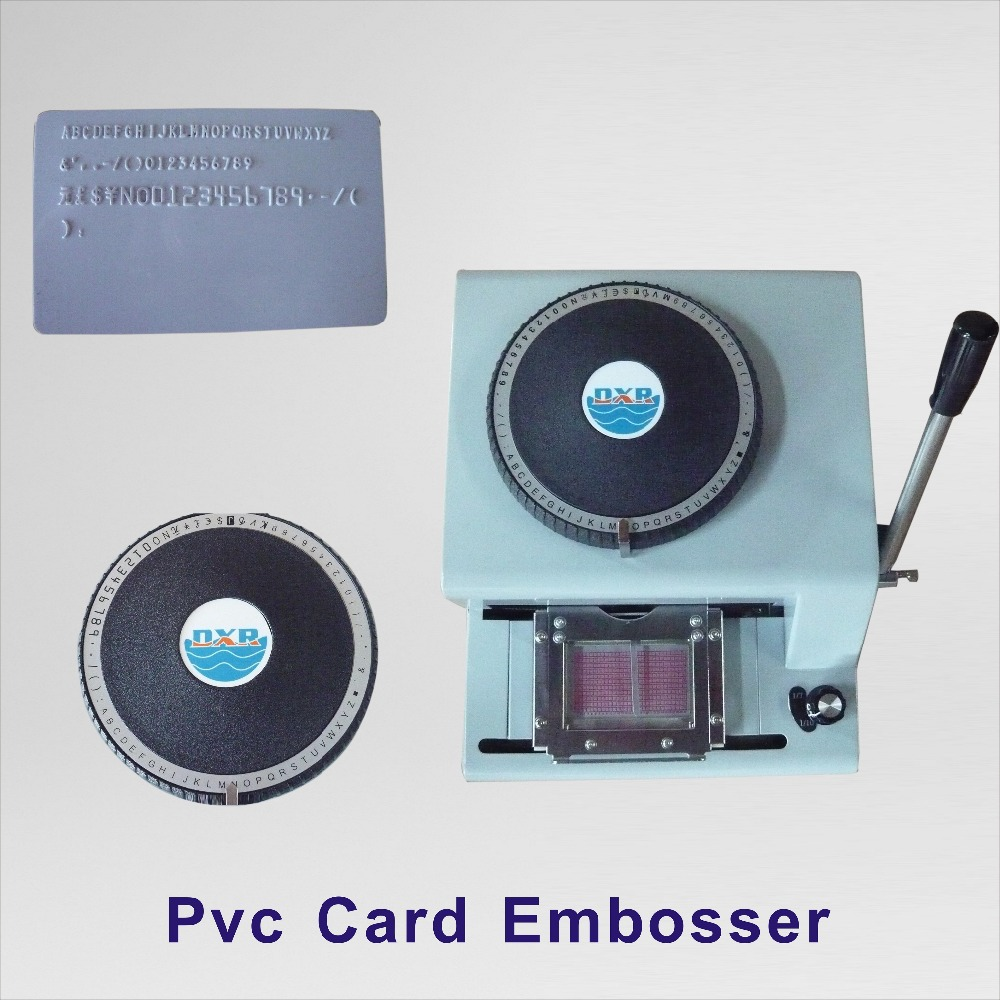 72C Manual Press Pvc Card Embosser
