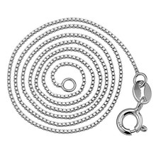 Hot sales high quality 925 Sterling Silver box chain