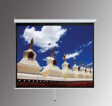 Manual Projector Screen with self-lock system / Wall & Ceiling mounted pull down projection screen matt white
