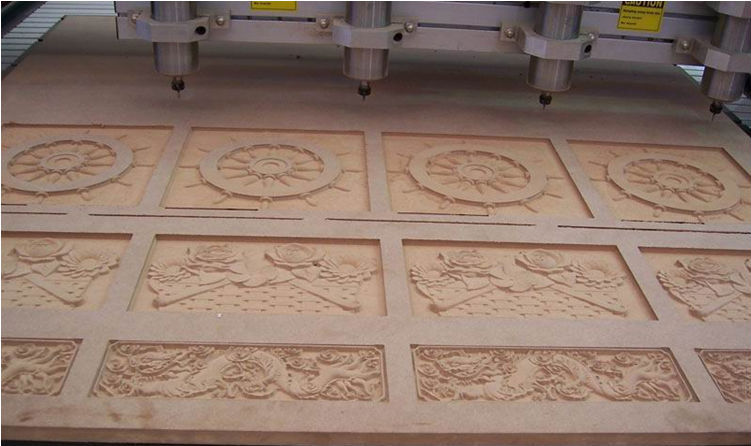 High quality six heads woodowrking cnc router 4 axis router cnc machine
