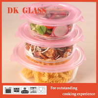 Microwave Safe Round High Borosilicate Glass