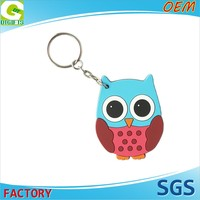 High Quality OEM 2D Custom Logo Plastic cheap keychain